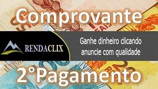 Ptc Brasileiro RendaClix Com Prova de 2° Pagamento pelo Paypal