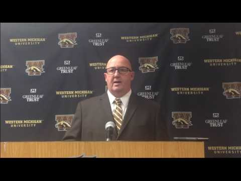Western Michigan men's basketball coach Steve Hawkins talks about Joeviair Kennedy
