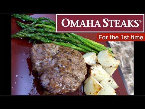 2 (5 Oz.) Filet Mignons From Omaha Steaks/ Mail Ordered Steaks
