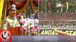 DGP Mahender Reddy Speech At SI Passing Out Parade In TSPA | Hyderabad | V6 News