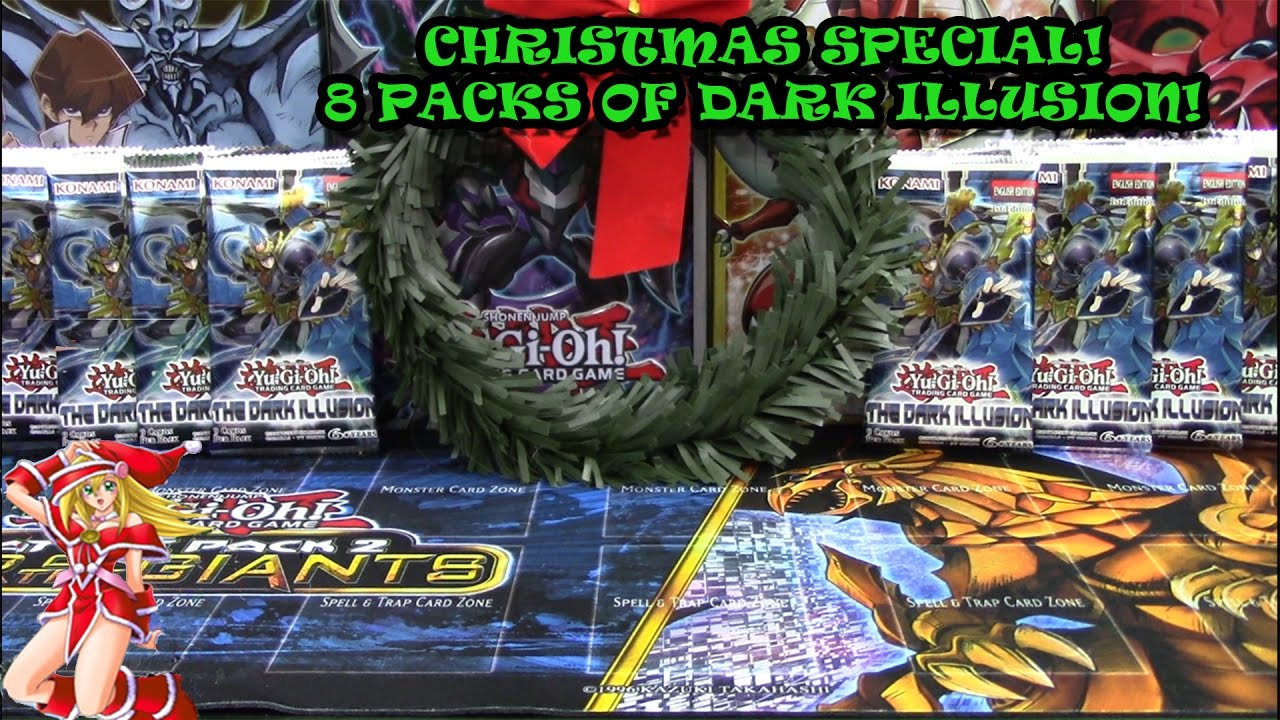 YuGiOh Christmas Special! 8 Packs of The Dark Illusion! - YouTube