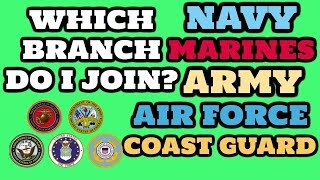 Best Military Branch? Which Military branch should I join?