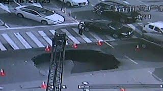 بالفيديو.. ضابط شرطة يمنع وقوع كارثة كبيرة