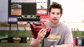 CJ Wilson, Texas Rangers & his Wilson Baseball Glove