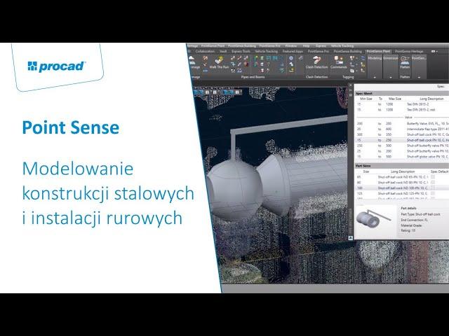 Modelowanie konstrukcji stalowych i instalacji rurowych z wykorzystaniem Faro Point Sense