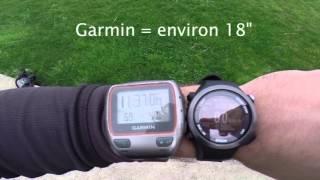 Test de la qualité du GPS par rapport à une concurrente bien connue...