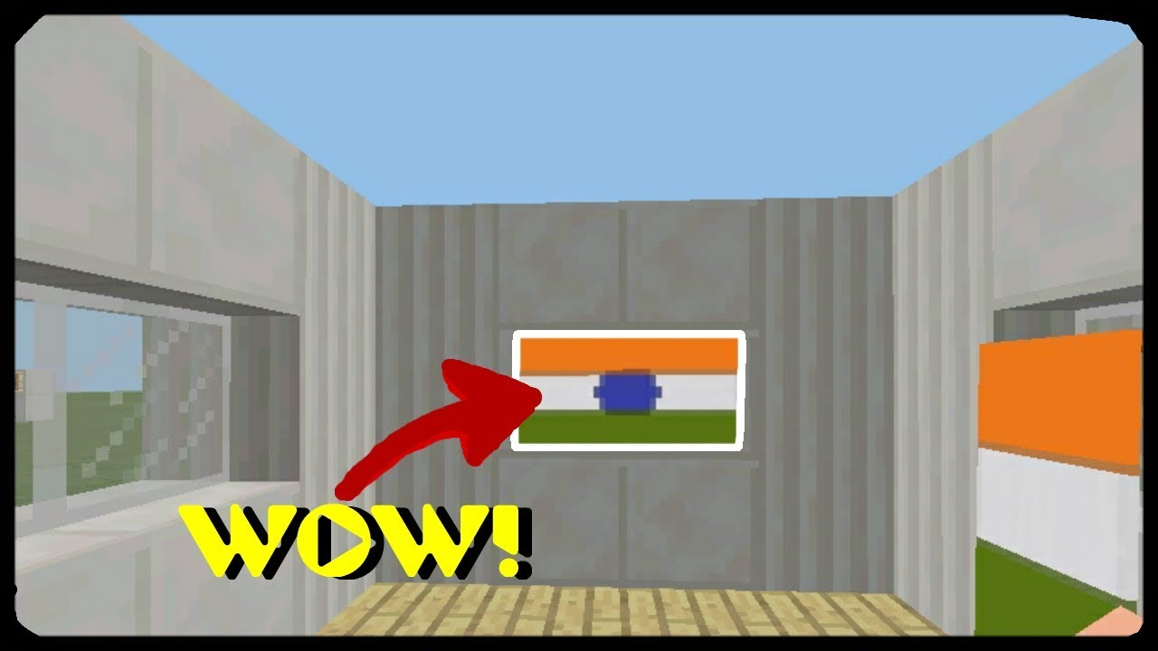 🔴MCPE 1 2, Minecraft | How to make an Indian flag (Indian Independence day  special!)