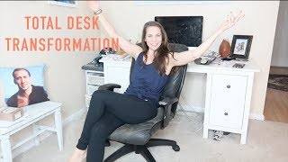 Huge Desk Declutter + Makeover + Transformation + Organization + KimMari Clean With Me!