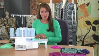 Learn tips for serging knit fabrics on It's Sew Easy with Angela Wolf (1212-3)
