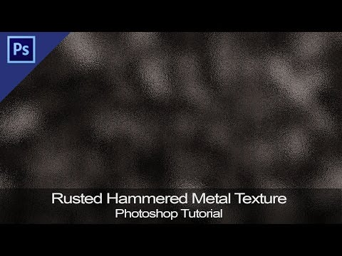 Rusted Hammered Metal Texture | Beginner Graphics in Photoshop [Tutorial]