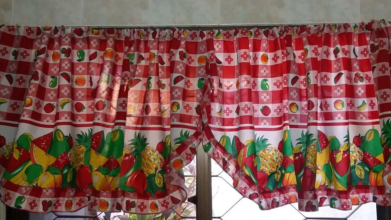 Como hacer unas cortinas cenefas para la cocina youtube for Como armar mi cocina
