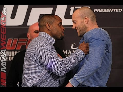 Cormier Shoves Cummins at UFC 170 Face-Offs