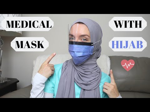 How to Wear a Medical Mask with Hijab! (Best Trick) - YouTube