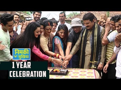 Nimki Mukhiya Celebrates Their First Anniversary   Cake Cutting   Star Bharat