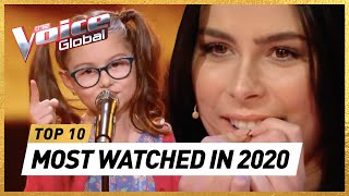 The MOST WATCHED Blind Auditions of 2020   The Voice Kids Rewind
