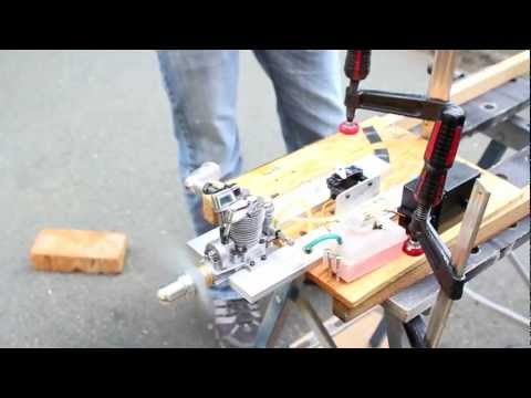 Saito 3 cyl radial engine start and running | FunnyCat TV