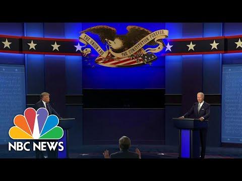 First Trump-Biden Debate Filled With Interruptions, Taunts | NBC Nightly News