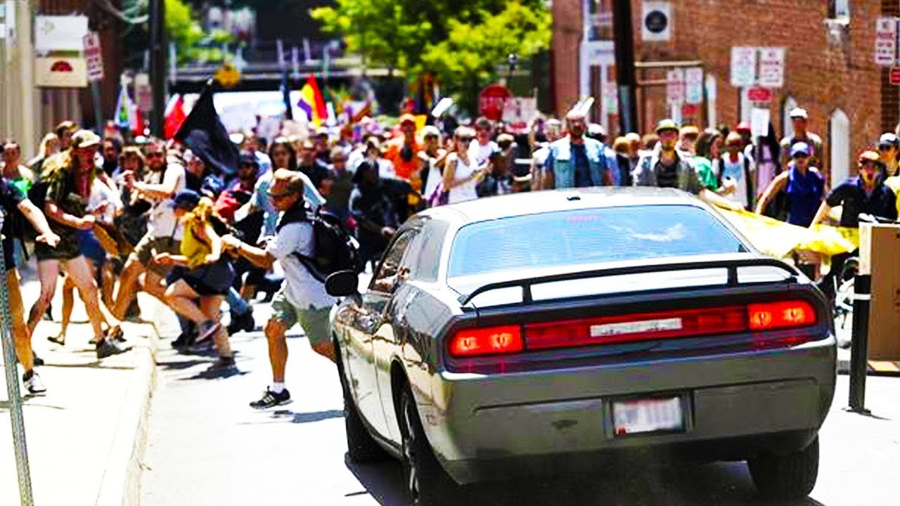 Car Driving Through Protesters Virginia