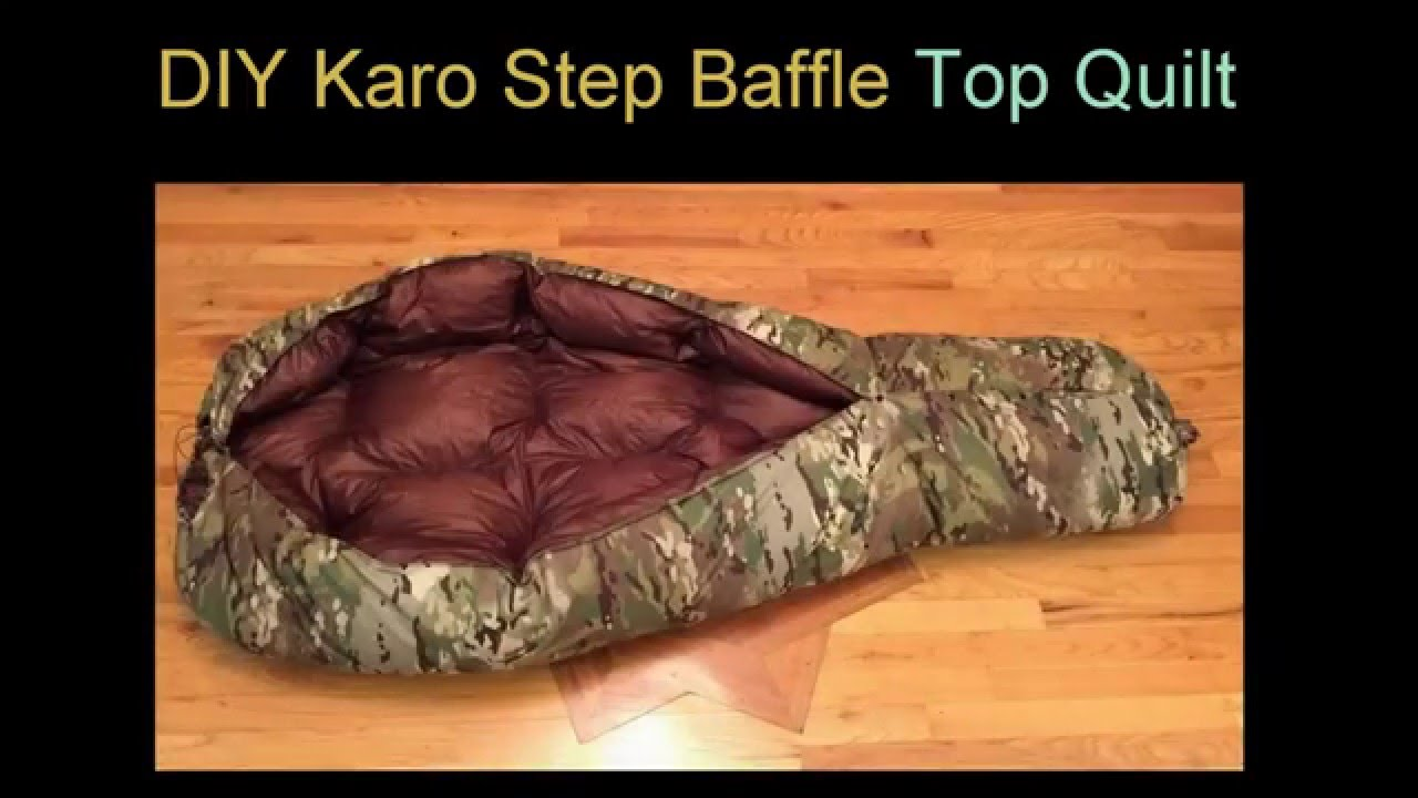 diy down top quilt karo step baffle diy myog youtube