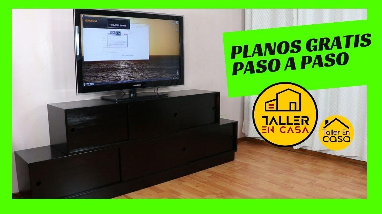 Mueble para tv hecho en casa 1 3 cortes youtube - Television en casa ...