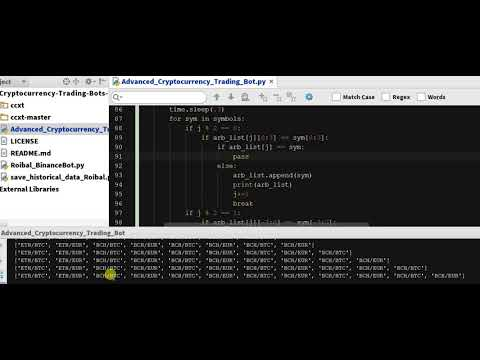 Coding Arbitrage Python Function 6 - Arbitrage Cryptocurrency Bot In Python  - Code  - Ch 5.22