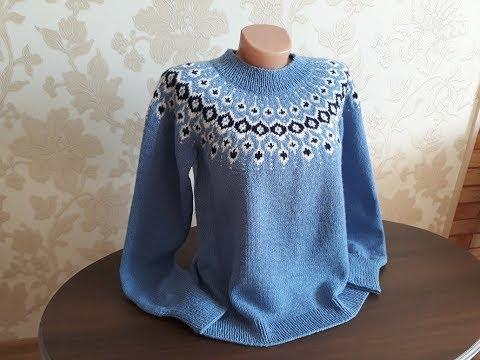 свитер лопапейса капли дождя часть 8 обзор связанного свитера