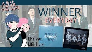 [開箱]WINNER(위너) 2nd album《EVERYD4Y》2版本(day ver. +night ver.)專輯開箱