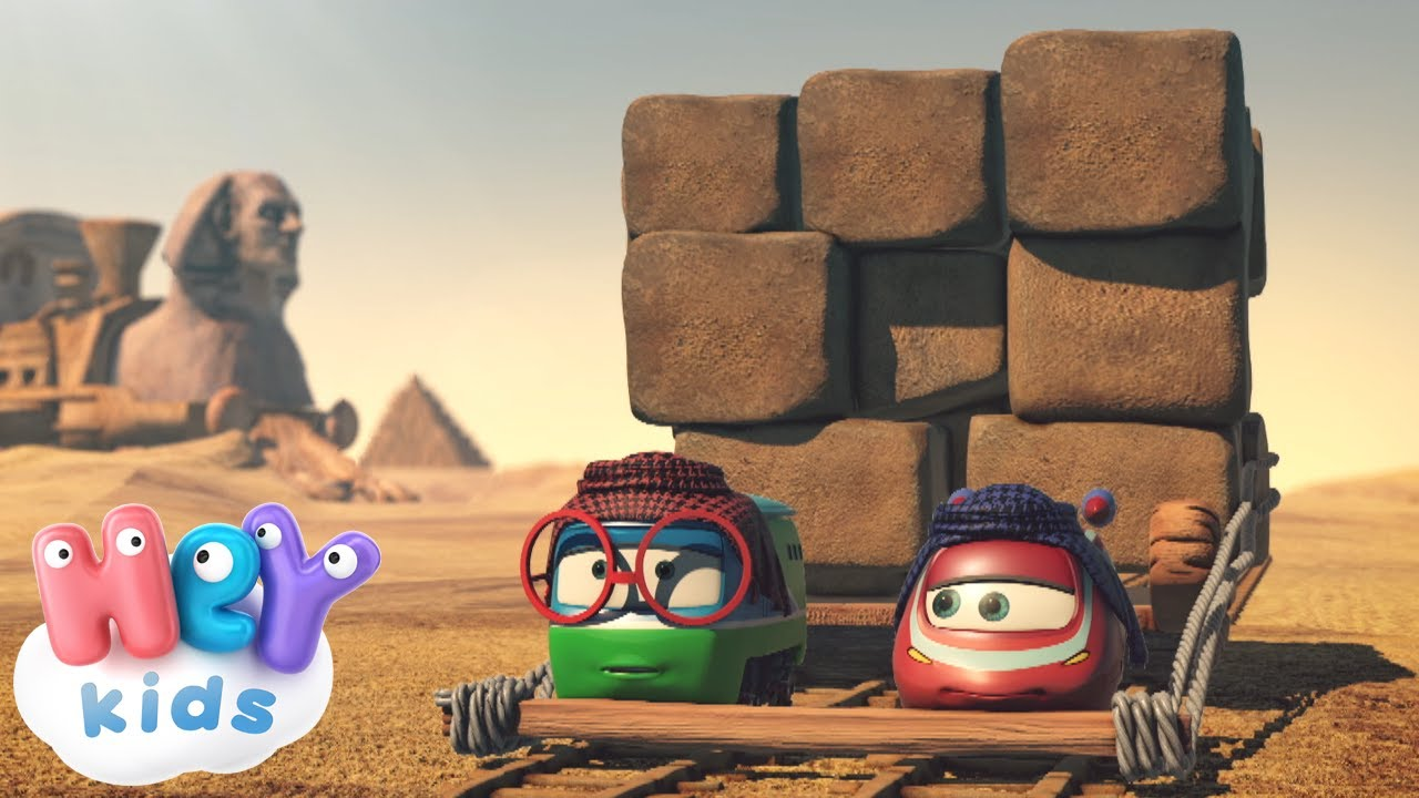 Trenulețele ? Ajutând-o pe Vera - Desene animate despre piramidele din Egipt | HeyKids