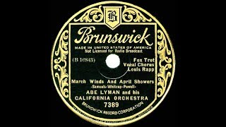 1935 Abe Lyman - March Winds And April Showers (Louis Rapp, vocal) YouTube Videos