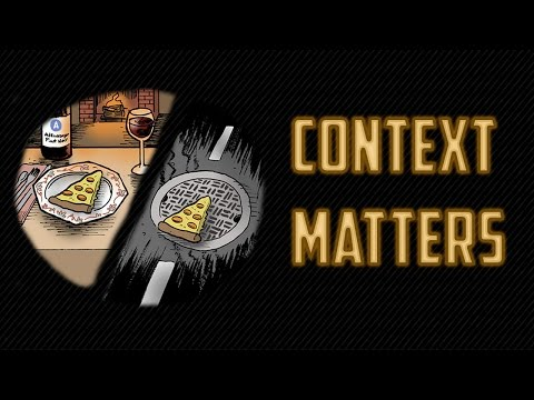 Steel's Thoughts: Context Matters
