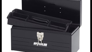 Waterloo Mp-1608bk Portable Series Metal Hand Tool Box With Plastic Tote, 16-inch, Black