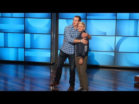 Ellen and Drew Brees Get Sporty