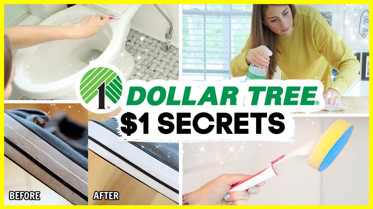 DOLLAR TREE CLEANING HACKS | $1 cleaning secrets you gotta try!