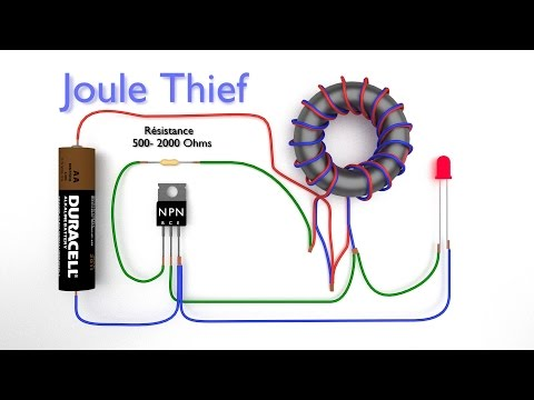 Joule Thief - How to make a joule thief - Boost Converter