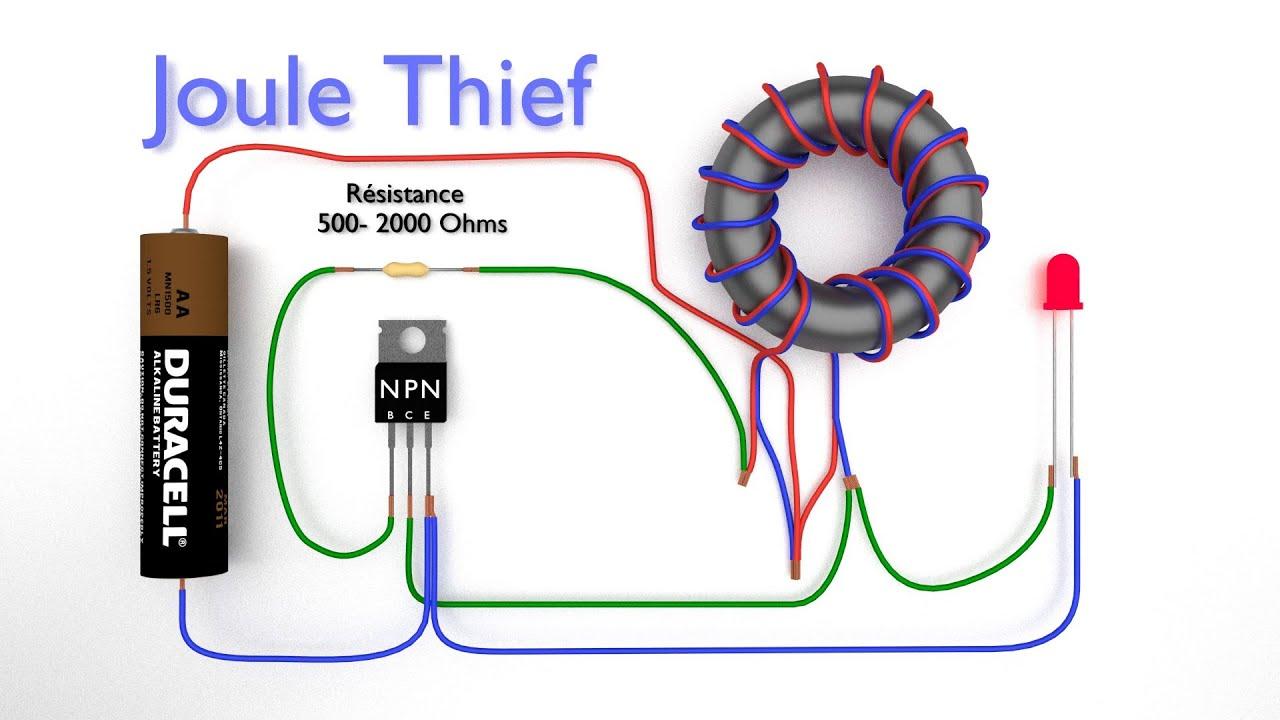 Joules Thief Circuit Diagram | Joule Thief Comment Fabriquer Un Joule Thief Convertisseur