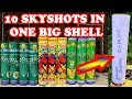10 Sky Shots in One Big Shell - Experiment with Diwali Fireworks !