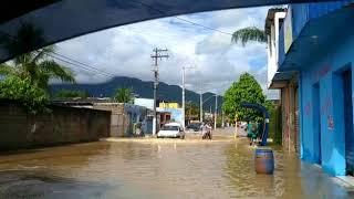Chuva provoca alagamento em Caraguatatuba (SP)