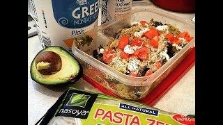 Low Carb Pasta, Cream Sauce, Guacamole, Avocado, Greek Yogurt