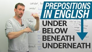 Download PREPOSITIONS in English: under, below, beneath, underneath