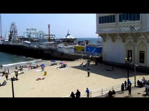 New Jersey - Beautiful Atlantic City Beach View from Tajmahal Casino - Tourism USA