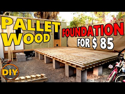 DIY Tiny House, Shed, Log Cabin, Foundation from Wooden Pallets