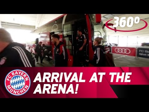 Arrival at the Arena in 360°