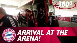 Arrival at the Allianz Arena in 360° | FC Bayern