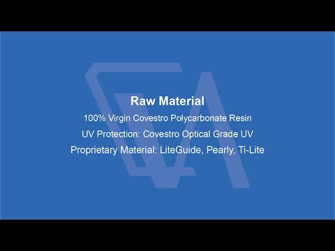 VULCAN POLYCARBONATE SHEETS - RAW MATERIAL
