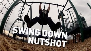 Brutal Swing Down Nutshot! *Voice goes High pitch