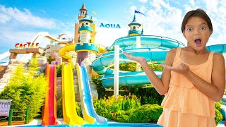 Masal and Öykü  at the Water Park - Funny Kids Video