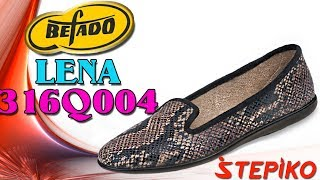 Женские текстильные балетки Befado Lena 316Q004. Видео обзор от WWW.STEPIKO.COM