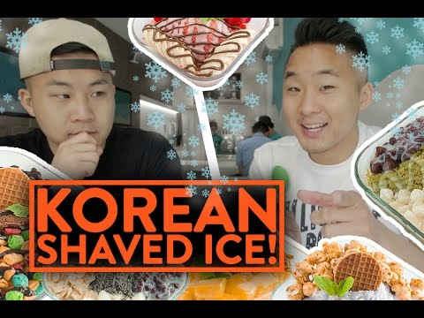 KOREAN SHAVED SNOW DESSERT (Patbingsu/Shaved Ice) – Fung Bros Food