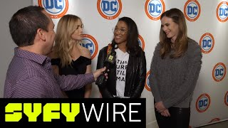 Caity Lotz On #AvaLance, Candice Patton On Her Flash Wedding And More | SYFY WIRE