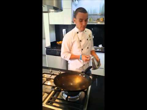 Donburi Japones Academia De Cocina Verde Oliva Youtube